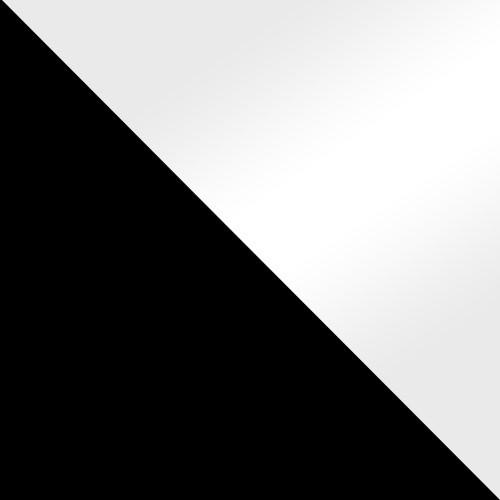 Czarny / Biały Połysk