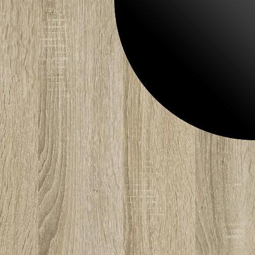 Sonoma / Czarny Lacobel